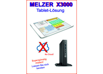 Melzer X3000 Tablet-Lösung